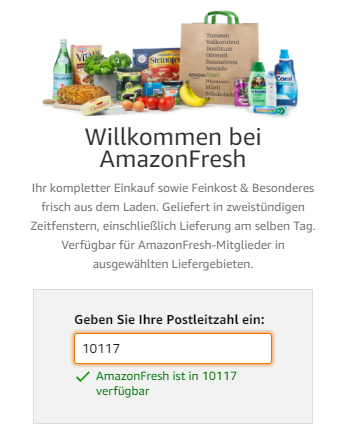 Start of Amazon Fresh in Germany – A New Category in Which